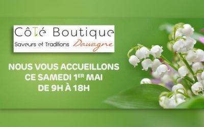 La boutique sera ouverte le 1er mai