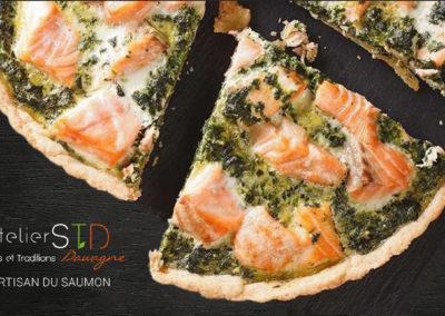 Quiche saumon frais & épinard frais