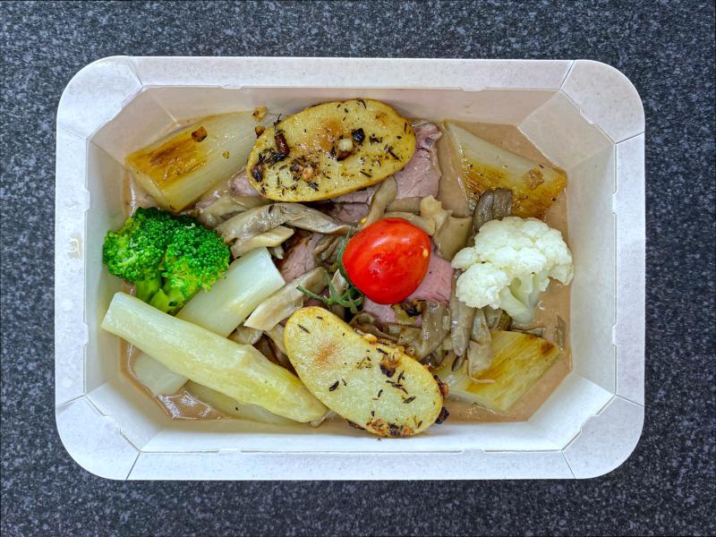 Filet pur de veau, pleurotes, échalottes, sauce poivre vert -18,50 €