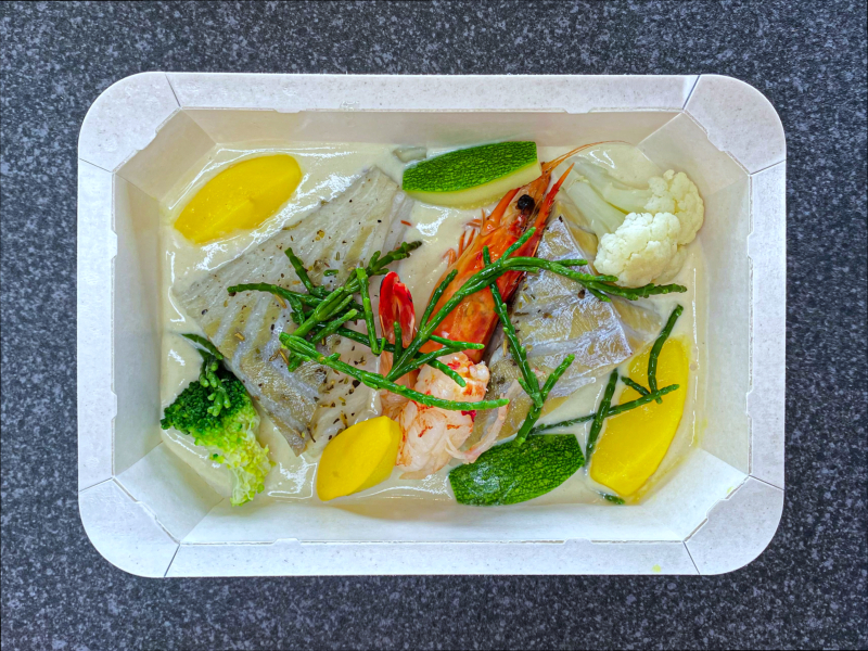 Lieu noir aux légumes, sauce crémeuse au poisson -18,50 €